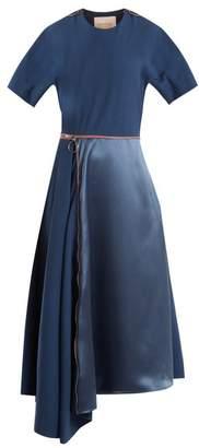 Roksanda Gianna Contrast Panel Stretch Crepe Dress - Womens - Blue