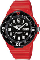 Casio Mens Red Resin Strap Diver Sport Watch MRW200HC4BOS