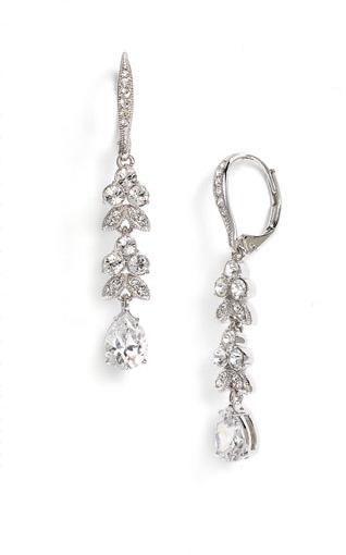 Nadri Leaf & Pear Drop Earrings