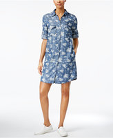 KUT from the Kloth Ruthy Printed Denim Shirtdress