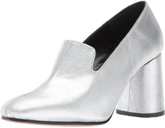 Rachel Comey Women's May Dress Pump Silver Kidskin Leather 6 M US