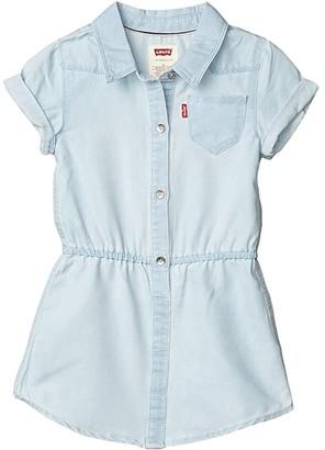 Levi's Kids Short Sleeve Western Dress (Toddler) (Mellow Breeze) Girl's Clothing
