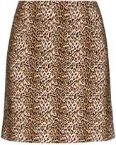 Marcia Ohio leopard print mini skirt