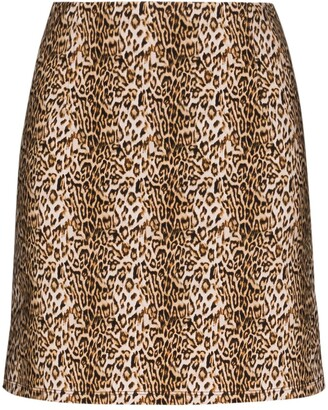 MARCIA Ohio leopard print mini skirt