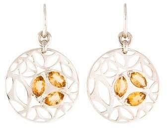 Di Modolo Medallion Golden Quartz Drop Earrings
