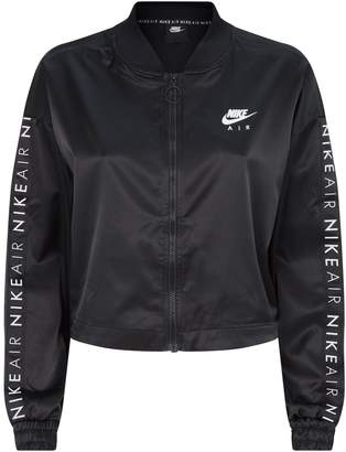 Nike Satin Cropped Track Jacket