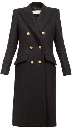 Alexandre Vauthier Double-breasted Wool Longline Coat - Black