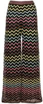 M Missoni chevron embroidered straight leg trousers