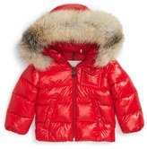 Moncler Infant Boy's 'K2' Hooded Down Jacket With Genuine Fox Fur Trim