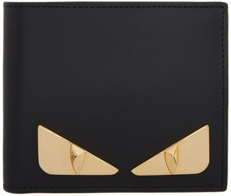 Fendi Black and Gold Bag Bugs Wallet
