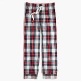 J.Crew Pajama pant in festive plaid cotton poplin
