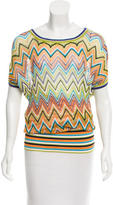Missoni Chevron Patterned Short Sleeve Top