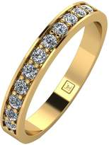 Moissanite 9ct Gold 33 Points Eternity Ring