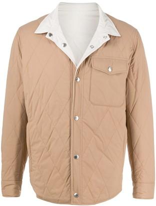 Brunello Cucinelli Reversible Water-Resistant Shirt Jacket