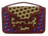 Pierre Hardy Alpha Plus Velour Crossbody Bag