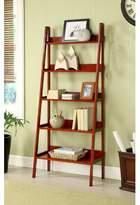 "Winston Porter Amaan Ladder Bookcase Winston Porter Size: 72"" H x 48"" W x 15"" D, Finish: Cherry"