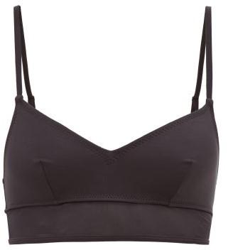 Solid & Striped Brigitte Mesh-trimmed Bikini Top - Womens - Black