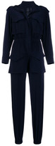 Norma Kamali Long-sleeve Fitted Tracksuit