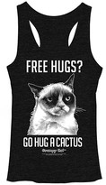 Fifth Sun Women's Tank Tops BLK - Grumpy Cat 'Go Hug a Cactus' Racerback Tank - Juniors