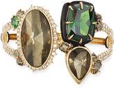 Alexis Bittar Pyrite & Emerald Cubic Zirconia Statement Cuff Bracelet