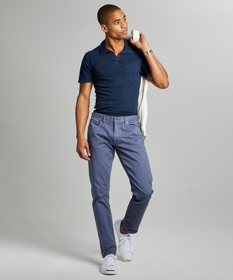 Todd Snyder Slim Fit 5-Pocket Garment-Dyed Stretch Twill in Cadet Blue