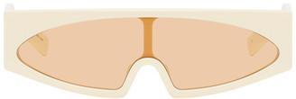 Rick Owens Off-White and Orange Kiss Sunglasses