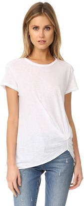 Stateside Women's Slub Jersey Twist Front Short Sleeve Tee