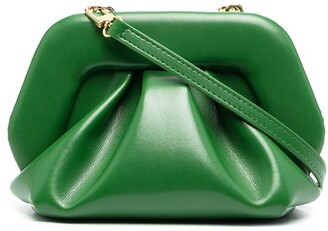 Themoire Gea ruched clutch