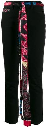 Alanui Silk Bandana Skinny Jeans
