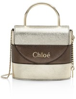 Chloé Small Aby Metallic Leather Top Handle Bag