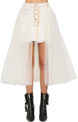 Unravel Denim & Tulle Skirt