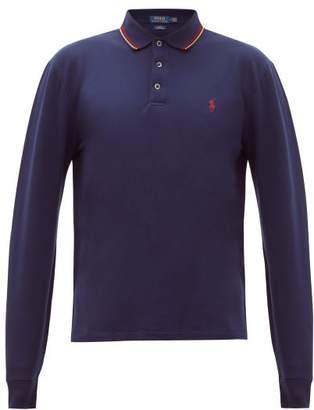 Polo Ralph Lauren Logo-embroidered Cotton-blend Polo Shirt - Mens - Navy