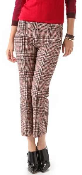 Derek Lam 10 crosby Houndstooth Cropped Flare Pants
