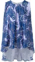 Giambattista Valli flared sleeveless top - women - Silk - 42