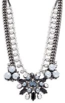 Gerard Yosca Faux Pearl and Crystal Layered Statement Necklace