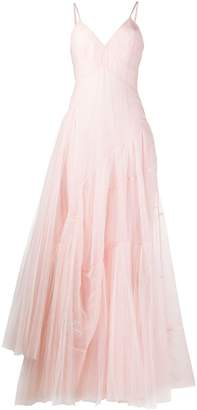 Ermanno Scervino Sheer Asymmetric Hem Gown
