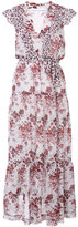 Robert Rodriguez floral print flared dress - women - Silk/Cotton - 0