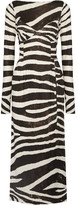 Marc Jacobs Zebra-print Stretch-jersey Dress - Black