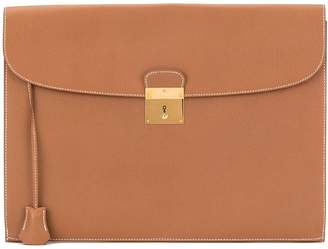 Hermes Pre-Owned 1997 flat briefcase style clutch