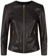 Ted Baker Fai Collarless Leather Jacket