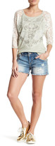Miss Me Distressed Embellished Short