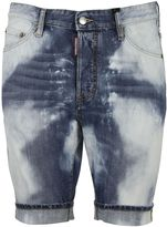 DSQUARED2 Heavily Bleached Denim Shorts