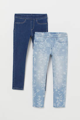 H&M 2-pack Denim Leggings