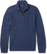 Polo Ralph Lauren Cable-Knit Silk Half-Zip Sweater