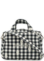 Courreges vichy-print tote bag