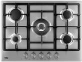Beko HCMW75225SX 70cm Built-In Gas Hob With Connection - Stainless Steel