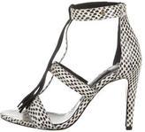 Jerome Dreyfuss Snakeskin Multistrap Sandals