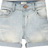 River Island Mini boys light blue wash denim shorts