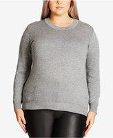 City Chic Trendy Plus Size Cutout-Back Sweater