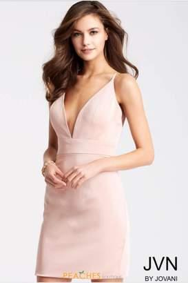 Jovani Blush Cocktail Dress